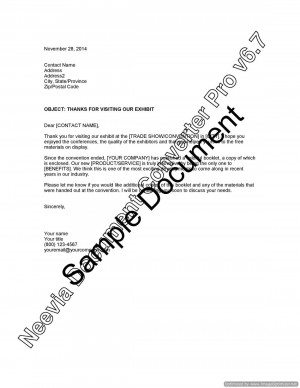 Customer Letter For Departed Employee